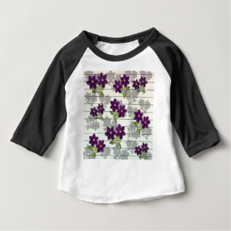 Purple vintage flowers baby T-Shirt