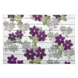Purple vintage flowers placemat