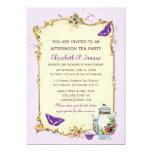 Purple Vintage French Tea Party Announcement