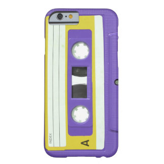 Purple Vintage Retro Audio Cassette Barely There iPhone 6 Case