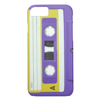 Purple Vintage Retro Audio Cassette iPhone 7 Case