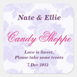 Purple Vintage Rose Candy Shoppe Sticker