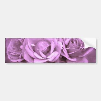 Purple Vintage Roses Bumper Sticker