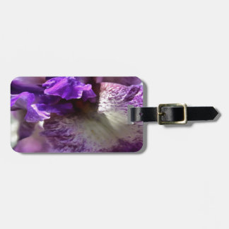 Purple, Violet and Mauve Iris Abstract Luggage Tag