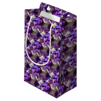 Purple, Violet and Mauve Iris Abstract Small Gift Bag
