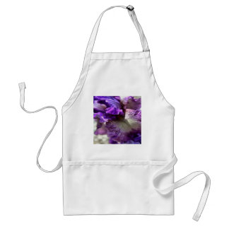 Purple, Violet and Mauve Iris Abstract Standard Apron