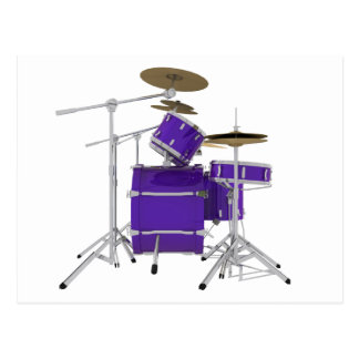 Purple / Violet Drum Kit: Postcard