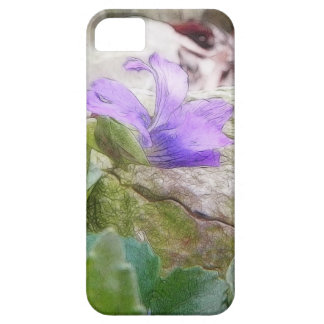 Purple Violet In The Rock Garden Case For The iPhone 5