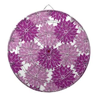 Purple Violet Lavender Flower Blossoms Floral Dart Board