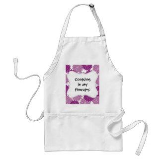 Purple Violet Lavender Flower Blossoms Floral Standard Apron