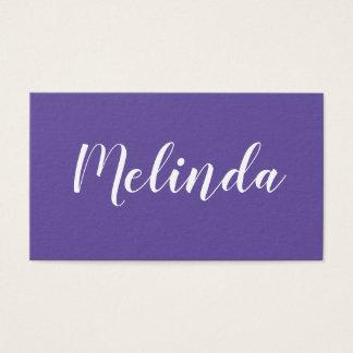 Purple / violet minimalist trendy business card