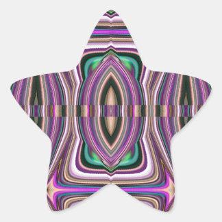 Purple Violet Sketch Aztec Pattern Sticker
