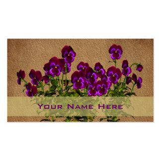 Purple Violets Floral Art Business Card