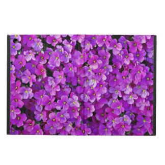Purple violets floral background case for iPad air