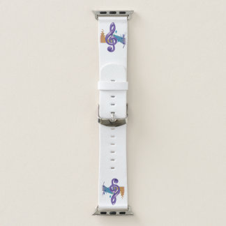 Purple Violin Key Apple Watch Band