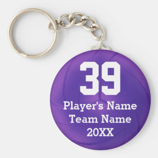 Purple Volleyball Keychains PERSONALIZED