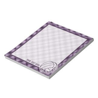 Purple Volleyball Notepad