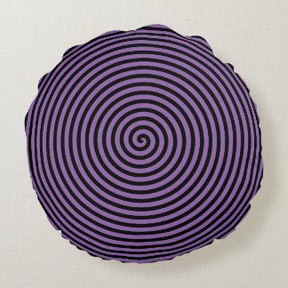 Purple Vortex Round Cushion