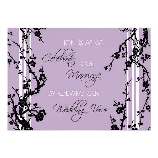 Purple Vow Renewal Ceremony Invitation Card
