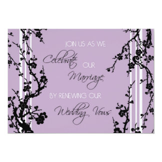 "Purple Vow Renewal Ceremony Invitation Card 5"" X 7"" Invitation Card"