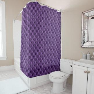 Purple Waffle Shower Curtain