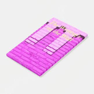 Purple Wall Post it notes