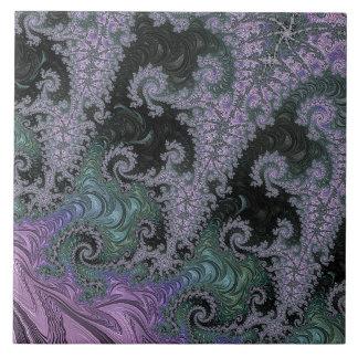 Purple Wanderer Ceramic Tile Design