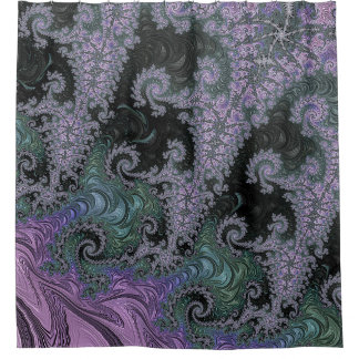 Purple Wanderer Shower Curtain Bathroom Design