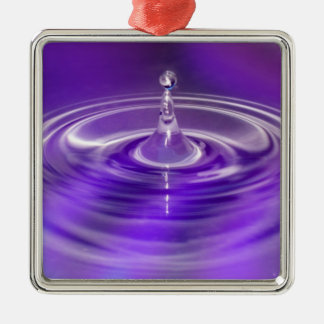 Purple Water Drop Christmas Tree Ornament