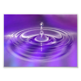 Purple Water Drop Photo Print