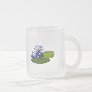 Purple Water Lilies in Sunshine Mugs