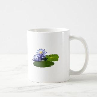 Purple Water Lilies in Sunshine Mug