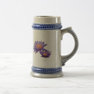Purple Water Lilies Coffee Mugs