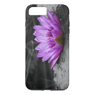 Purple Water Lily 002 Black and White Background iPhone 7 Plus Case