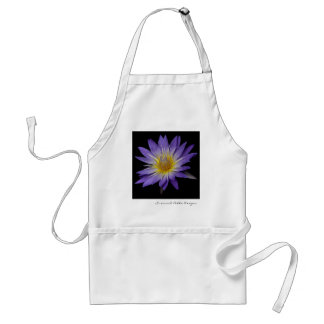 Purple Water Lily Apron