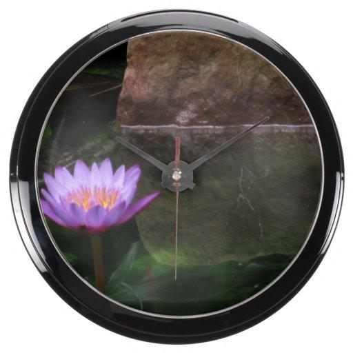 Purple Water Lily Aquavista Clock