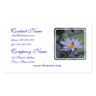 Purple Water Lily Business Card Templates