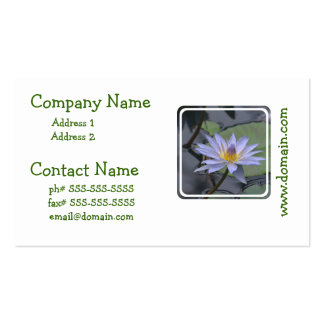 Purple Water Lily Business Cards