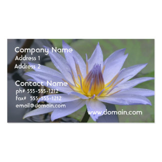 Purple Water Lily Business Card