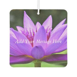 Purple Water Lily Car Air Freshener