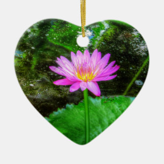 Purple Water Lily Christmas Ornament
