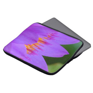 Purple Water Lily Flower Blossom Computer Sleeves