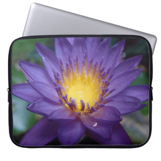 Purple Water Lily Laptop Computer Sleeve