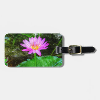 Purple Water Lily Tag For Bags