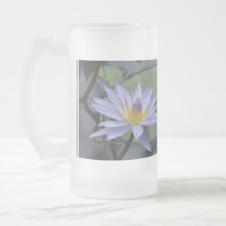 Purple Water Lily Frosted Beer Mug