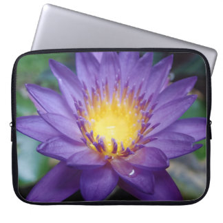 Purple Water Lily Neoprene Laptop Sleeve 15 inch