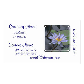 Purple Water Lily Pack Of Standard Business Cards