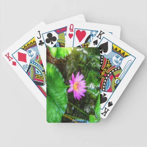 Purple Water Lily Deck Of Cards