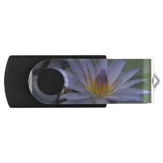 Purple Water Lily Swivel USB 2.0 Flash Drive