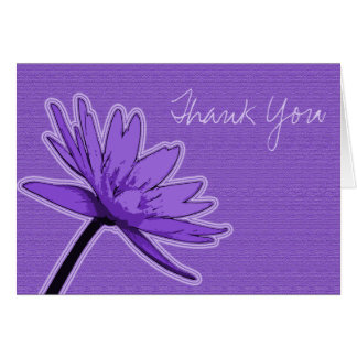 Purple Water Lily Thank You Greeting Card